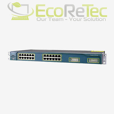 Cisco Catalyst WS-C2950G-24-EI 24-Port Ethernet LAN Netzwerkswitch 2x X2 GBIC
