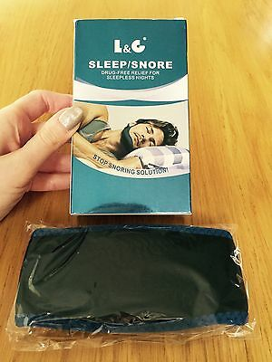Stop Snore Anti Snoring Strap Belt Sleep Aid Apnea Jaw Solution Chin Support UK