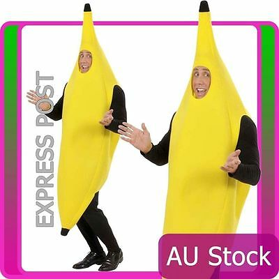 Deluxe Adult Unisex OneSize Funny Banana Suit Yellow Costume Party Fancy Dress