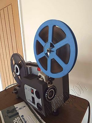 Sankyo Dualux 1000 Dual SUPER 8 8MM VARIABLE SPEED  CINE PROJECTOR TELECINE