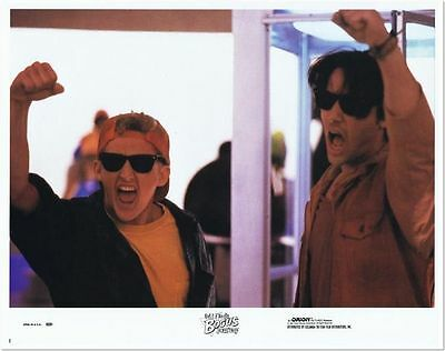 KEANU REEVES - 4 original 11x14 LOBBY CARDS from BILL & TED'S BOGUS JOURNEY- '91