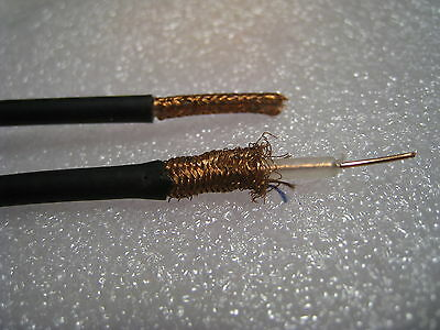 10m Vintage Shielded Audio Cable Circuit Wire Single conductor ,Black