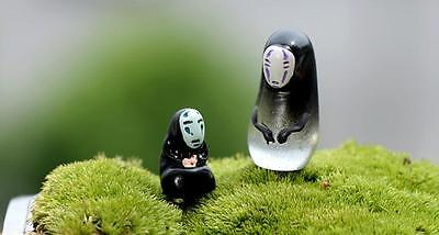 2pcs/set studio Ghibli Spirited Away no face man figure Kid toy collection