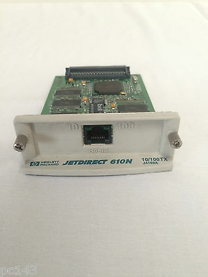 Hp Jetdirect 610N J4169A Ethernet Network Card Rj-45 Tested Working  (Ref-T91)