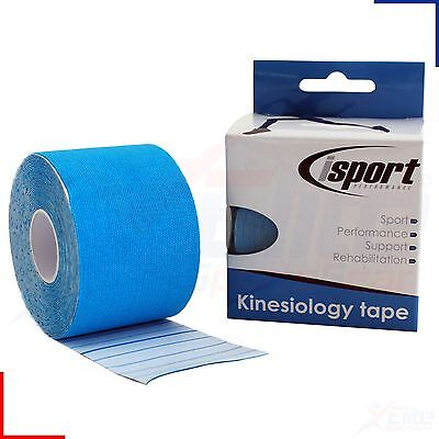 Isport Kinesiology Sports Gym Physio Muscle Injury Support Tape 5cm x 5m - Blue