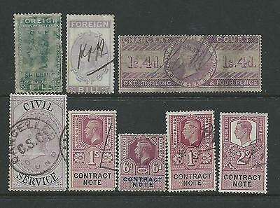 Small collection of mixed used Fiscals/Revenue stamps.