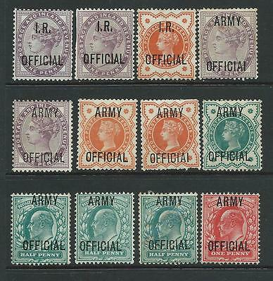 Small collection of MINT Officials stamps.