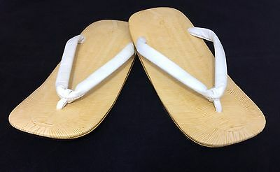 New Japanese leather sole men's setta sandals for kimono, 25cm, UK 6.5 (B1040)