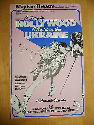 """""""a Day In Hollywood, A Night In The Ukraine"""" - 1979 Mayfair Theatre Poster"""