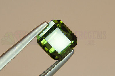 Green Tourmaline Octagon 1.42ct VS Loose Natural Gemstone 6.5x6mm Afghanistan
