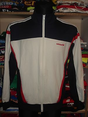 ADIDAS VINTAGE JACKET SIZE M MADE IN HUNGARY TRACKSUIT TOP SHIRT(e964d)