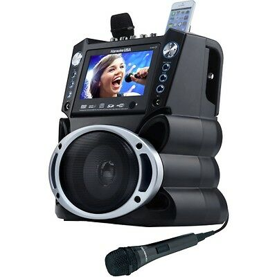 NEW GF839 DVD/CDG/MP3G Karaoke Machine with 7in TFT Color Screen Record Function