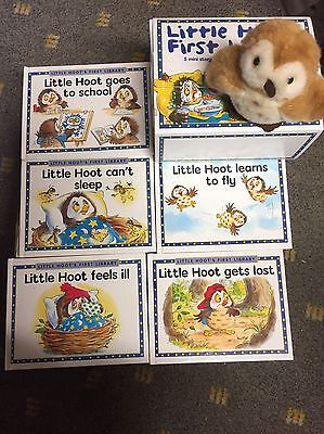 Box Set of 5 x Little Hoots First Library Books with a Little Hoot Soft Toy