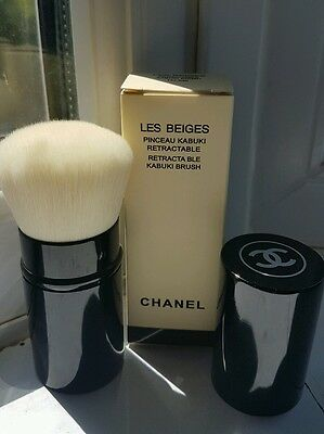 Chanel kabuki brush Les Beiges Retractable Makeup travel blush foundation new uk
