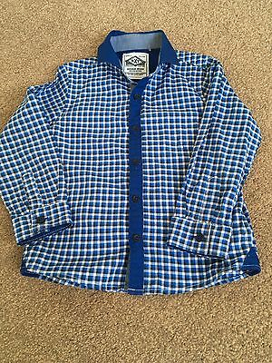 Next. Boys Age 2-3 Blue And White Long Sleeved Shirt