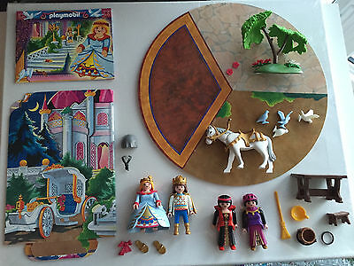 Playmobil Cinderella Fairy Tale Read and Play Playset 4213 Complete!