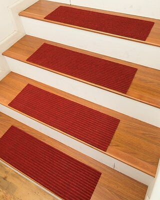 Non Slip Stairway Tread Set 13 Carpet Anti Skid Rubber Safety Rug Pad Step Stair
