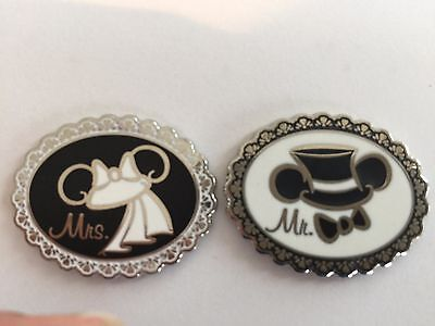 Disney Pins - Mr. And Mrs. - Mickey & Minnie Ears - 2 Pins As Shown