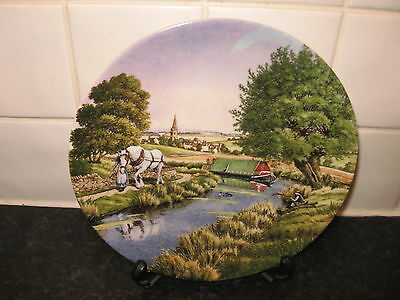 Romance Of The Waterways     Plate   - Aloing The Towpath -    Bradford Exchange