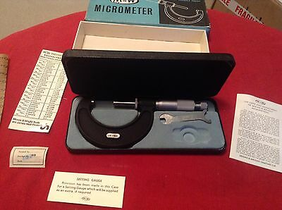 Vintage Moore & Wright Micrometer Ref 966 M Boxed 25-50 mm Excellent Condition.