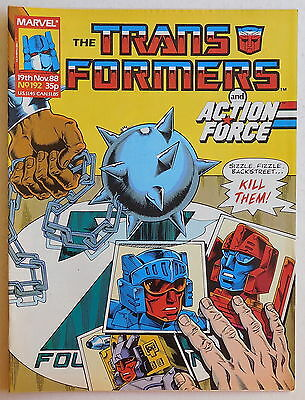 TRANSFORMERS COMIC #192 - 19th November 1988 - Marvel UK, Action Force