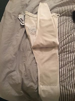 Pikeur Kaskaja Ladies Full Seat Breeches White Size Uk 32long  Bnwt