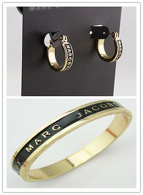 Hot Marc By Marc Jacobs 8 Colors Glaze Letters Earrings Bracelet Set #j015X