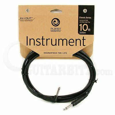 Planet Waves Classic Guitar Cable - Right Angle - 10foot (3meters)
