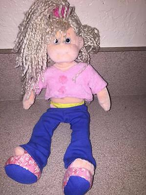 "TY, Sweet Sally, 13"" Blonde Yarn Hair, Pink Top, Soft Stuffed Doll"