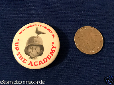 vintage 1980 Mad Magazine Presents Up the Academy PROMO PIN BUTTON BADGE Alfred