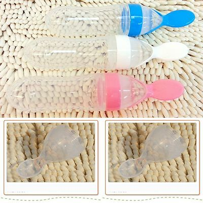 Extrusion Infant With Dispensing Squirt Silicone Squeeze Rice Baby Food Spoon