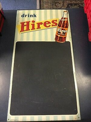 VINTAGE ADVERTISING SIGN 1950s HIRES ROOT BEER SODA SIGN Menu Chalk Board Rare
