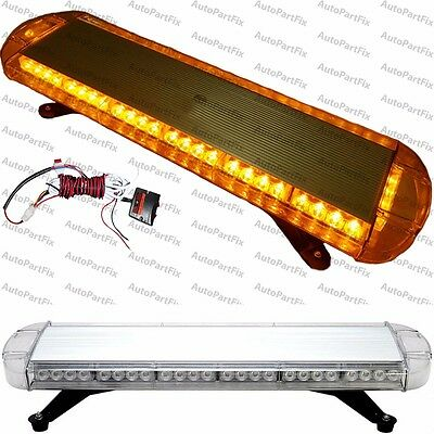 30 in 56-LED Amber Emergency Warning Truck Strobe Light Tow Roof Bolt Bar Yellow