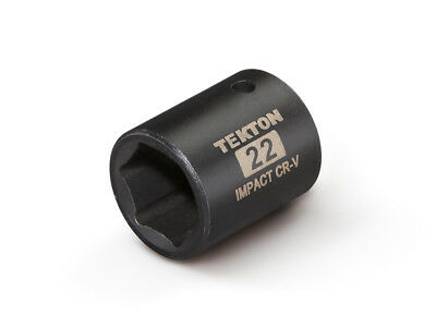 TEKTON 47777 - 1/2 in. Drive Shallow Impact Socket (6-Point) 22 mm