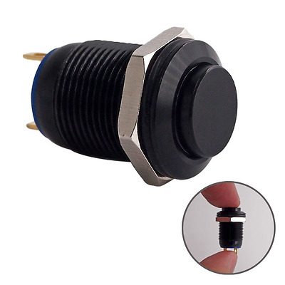 Momentary Push Button Switch, URTONE UR125, 1NO SPST DC/AC 36V 2A Aluminum Alloy