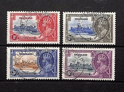 SS4409 1935 SWAZILAND KGV 25th Anniversary Windsor Used Set