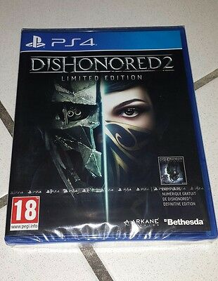 Jeu ps4 dishonored 2 limited édition neuf sous blister