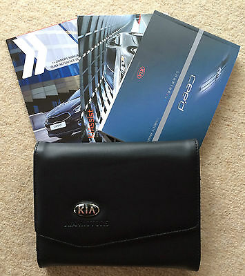 Kia Ceed Genuine Owners Manual Handbook Pack With Wallet 2012-2016 Ref2686