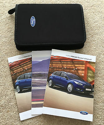 Ford Focus Facelift Owners Manual Handbook Pack With Service 2014-2016 Ref3811