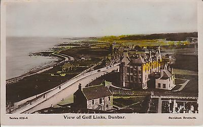 Dunbar - View Of Golf Links - East Lothian -Real Photo Early Postcard