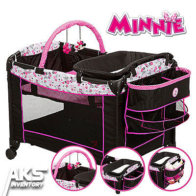 Minnie Mouse Playard Garden Delight Sweet Wonder Mini Nursery Bassinet Changer