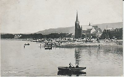 Largs - The Beach -  Ayrshire  -Real Photo Early Postcard