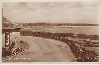 Powfoot - The Bay - Dumfriesshire  -Real Photo Early Postcard