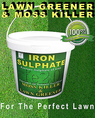 Iron Sulphate 1 KG Tub Moss Killer, Lawn Feed and Conditioner 250-1000 Sq mtrs
