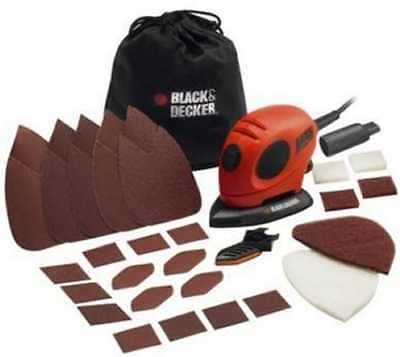 Black + Decker Electric Sander Mouse Detail Polisher Sanding Tool w Accessories