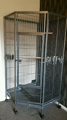 Signature Super Large African Grey Macaw Parrot Corner Cage-