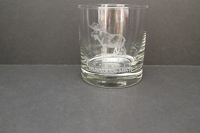 Imported Canadian Mist Lowball Rock Glass with Moose