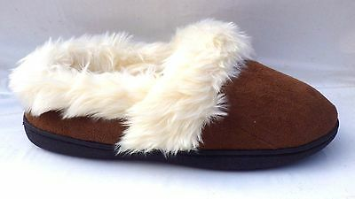 New Ladies Womens full Fur Luxury Lined Mules Slippers Size 5,6,7,8