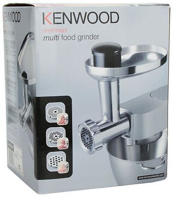 New Kenwood At950A Mincer & Food Grinder Attachment For Chef & Major Silver