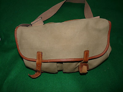 Brady canvass leather tackle bag classic fishing walking travel bag early model
